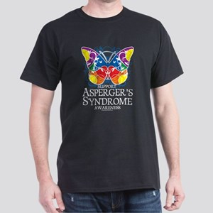 Asperger's Syndrome Butterfly Dark T-Shirt