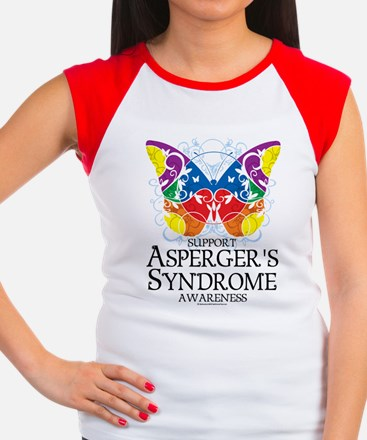 Asperger's Syndrome Butterfly Women's Cap Sleeve T