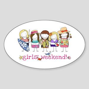 Girls' Weekend - Sticker (Oval)