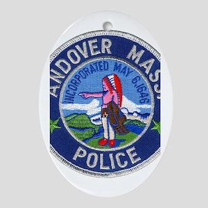 Andover Massachusetts Police Ornament (Oval)