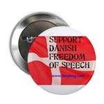 """Danish Free Speech 2.25"""" Button (100 pack)"""