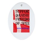 Danish Free Speech Oval Ornament