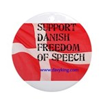 Danish Free Speech Ornament (Round)