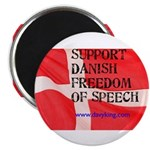 "Danish Free Speech 2.25"" Magnet (100 pack)"