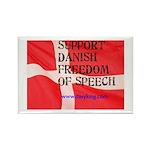 Danish Free Speech Rectangle Magnet (100 pack)