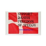 Danish Free Speech Rectangle Magnet (100 pack)