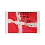Danish Free Speech Rectangle Magnet (10 pack)