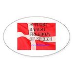 Danish Free Speech Oval Sticker