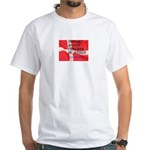 Danish Free Speech White T-Shirt