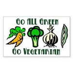 Go All Green 2 Sticker (Rectangle 50 pk)
