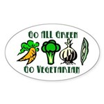 Go All Green 2 Sticker (Oval 50 pk)