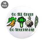 "Go All Green 2 3.5"" Button (10 pack)"