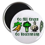"Go All Green 2 2.25"" Magnet (100 pack)"