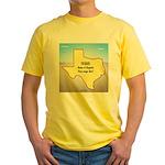 Texas Organic Free-range Gas Yellow T-Shirt