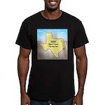 Texas Organic Free-ran Men's Fitted T-Shirt (dark)