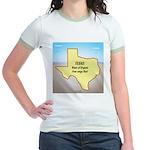 Texas Organic Free-range Gas Jr. Ringer T-Shirt