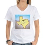 Texas Organic Free-range Ga Women's V-Neck T-Shirt
