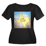 Texas Or Women's Plus Size Scoop Neck Dark T-Shirt