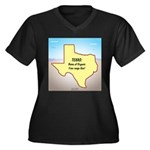 Texas Organi Women's Plus Size V-Neck Dark T-Shirt