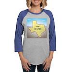 Texas Organic Free-range Gas Womens Baseball Tee
