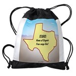 Texas Organic Free-range Gas Drawstring Bag