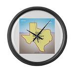 Texas Organic Free-range Gas Large Wall Clock