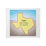 Texas Organic Free-range Gas Throw Blanket