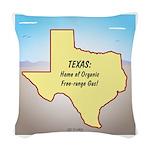 Texas Organic Free-range Gas Woven Throw Pillow