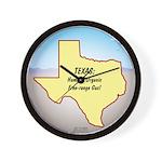 Texas Organic Free-range Gas Wall Clock