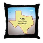 Texas Organic Free-range Gas Throw Pillow