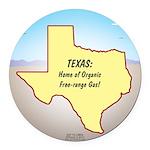 Texas Organic Free-range Gas Round Car Magnet