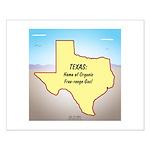 Texas Organic Free-range Gas Small Poster