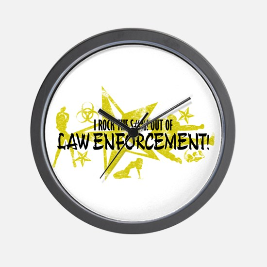 I ROCK THE S#%! - LAW ENFORCEMENT Wall Clock