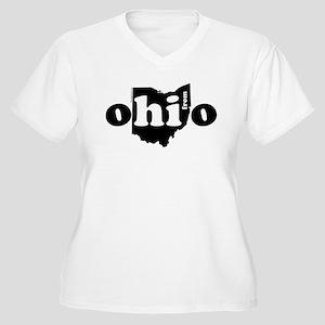 Hi From Ohio Women's Plus Size V-Neck T-Shirt