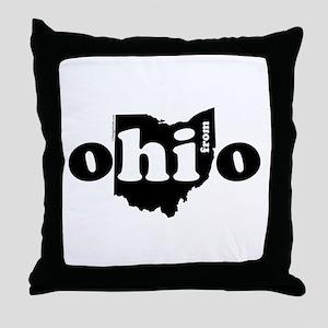 Hi From Ohio Throw Pillow