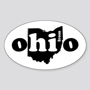 Hi From Ohio Sticker (Oval)
