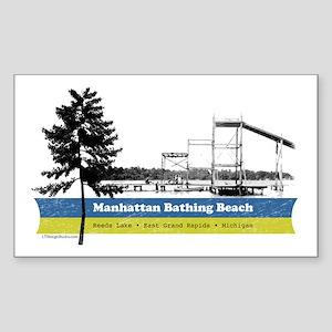 M. Beach Sticker (Rectangle)