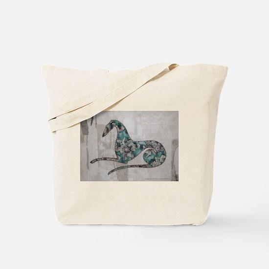 Wild Aqua Rose Tote Bag