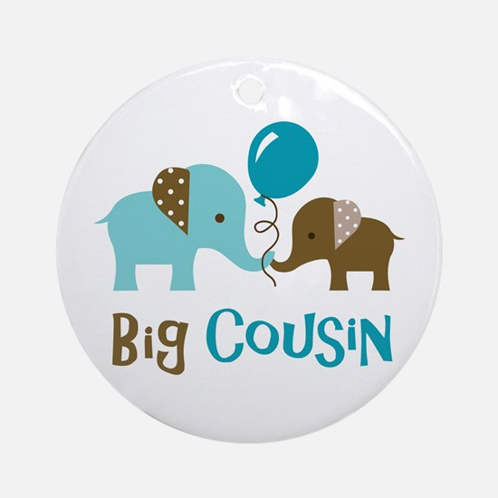 Big Cousin - Elephant Ornament (Round)