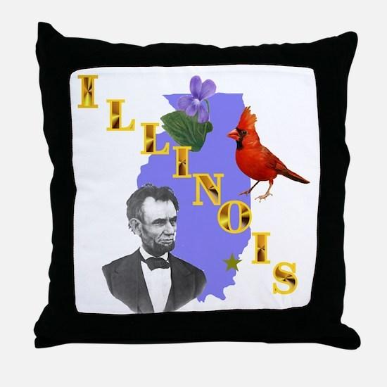 State of Illinois Throw Pillow