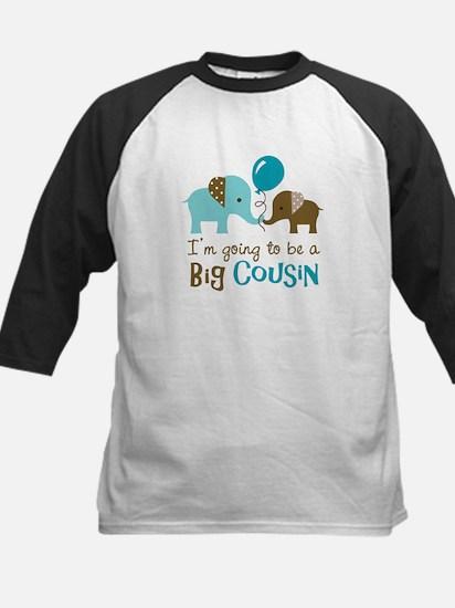 Big Cousin to be - Elephant Kids Baseball Jersey