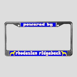 Powered by Rhodesian Ridgeback License Plate Frame