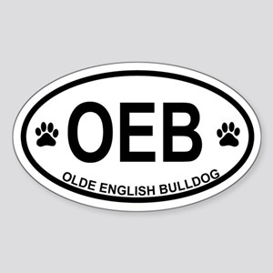 Olde English Bulldog Sticker (Oval)