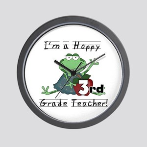 Hoppy 3rd Grade Teacher Wall Clock