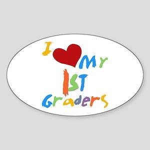I Love My 1st Graders Sticker (Oval)