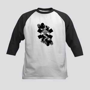 Nurse Heart Tattoo Kids Baseball Jersey