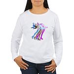 Skater in the Wind Women's Long Sleeve T-Shirt