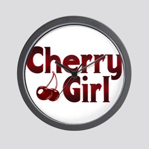 Cherry Girl Wall Clock