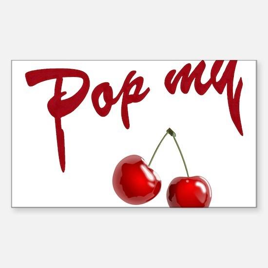 Pop My Cherry Sticker (Rectangle)
