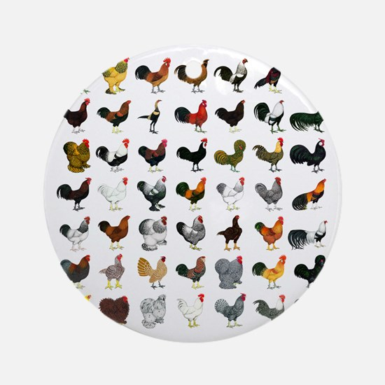 49 Roosters Ornament (Round)